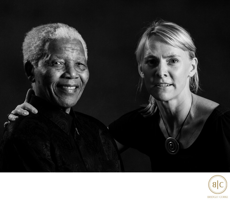 Nelson Mandela with Bridget Corke as Part of a Private Portrait Commission by Graca Machel with Her Family in Houghton 2008