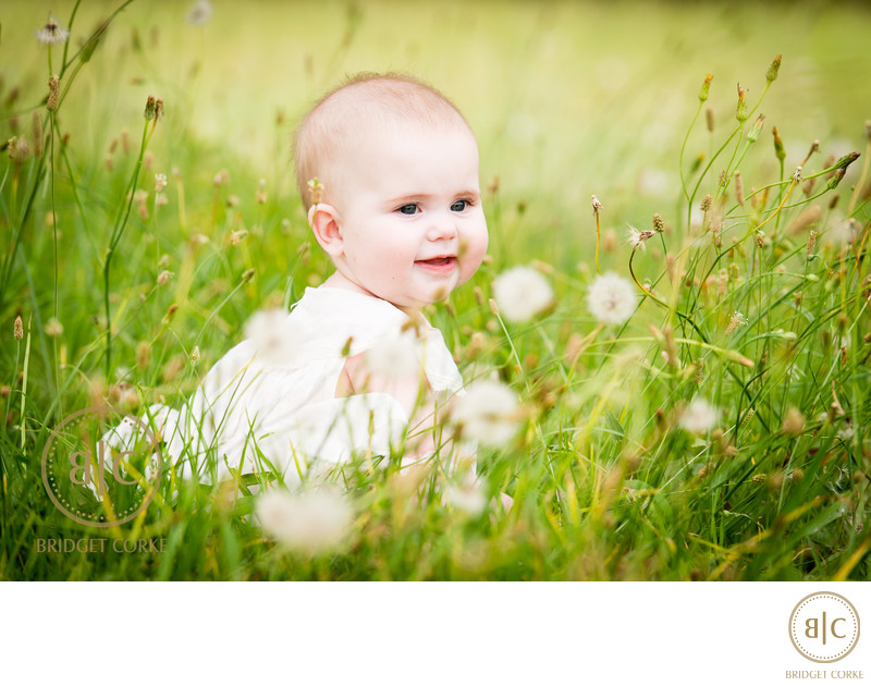 Outdoor Baby Photographed by Top Family Photographer