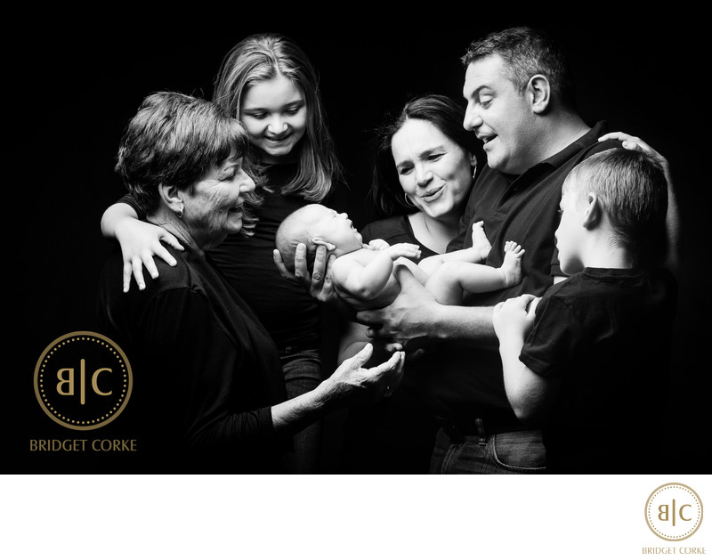 Family Shoot with Baby, Grandmother, Siblings & Parents