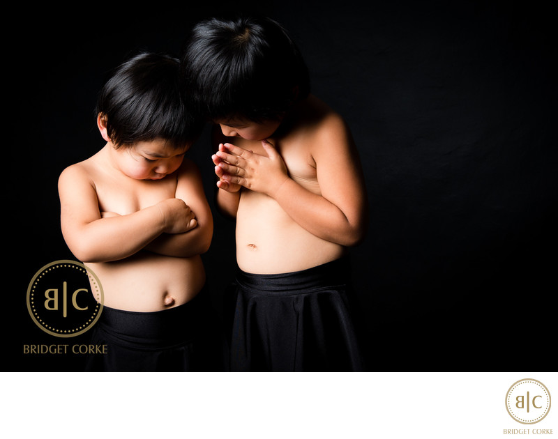 Asian Siblings Photographed in Johannesburg Studio