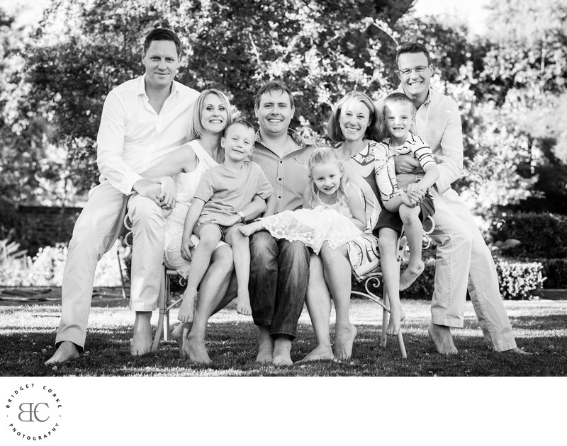 Family Photographed on Location Craighall