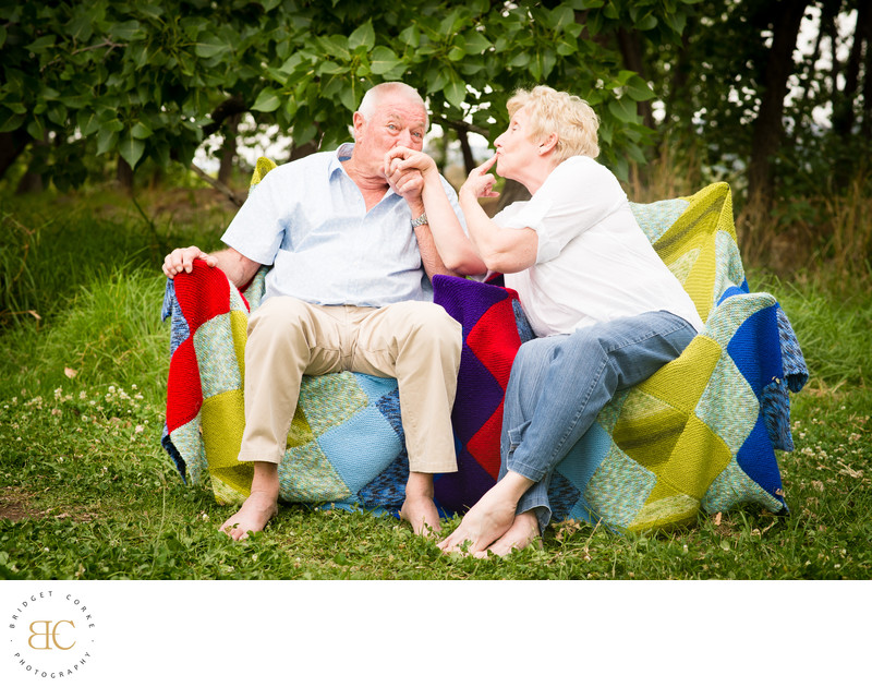 Photo of Grandparents Playing