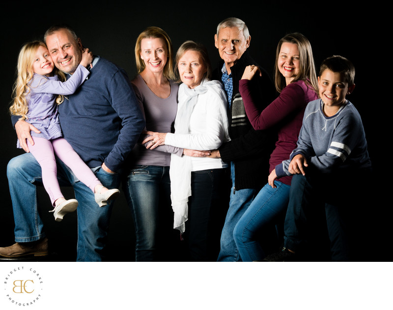 Colourful Family Studio Shoot