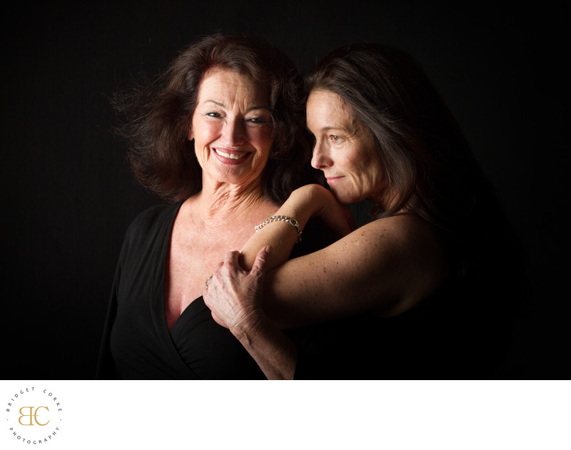 Mother and Daughter Portrait Study Photograph