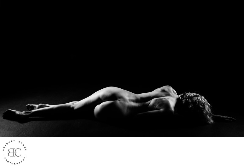 Fine Art Nudes in Black & White Studio by Bridget Corke