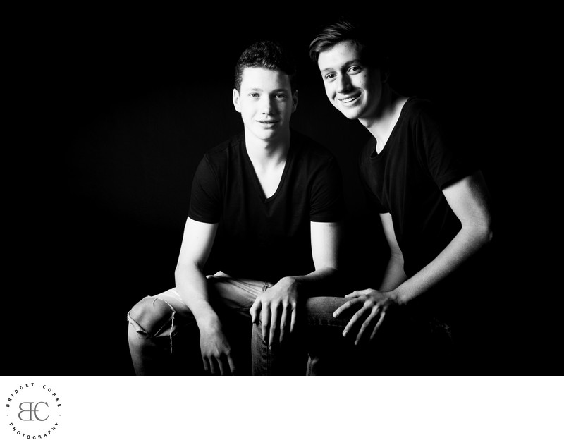 Teenager Brothers Photographed In Studio