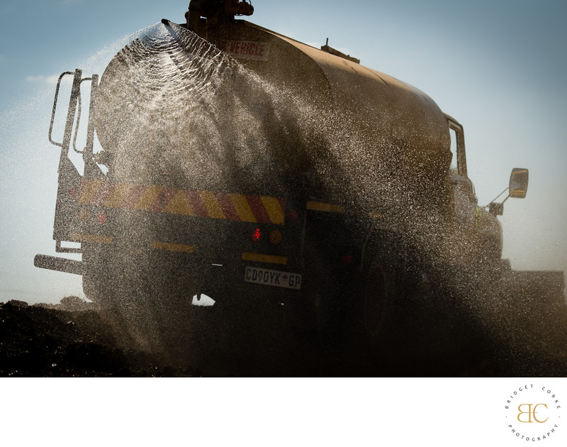 Editorial Road Maintenance Water Tanker Photograph