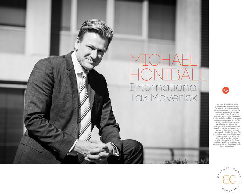Editorial Photography Portrait Michael Honiball
