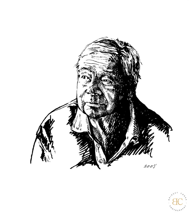 SOUTH AFRICAN: Portait Illustrator Grandfather