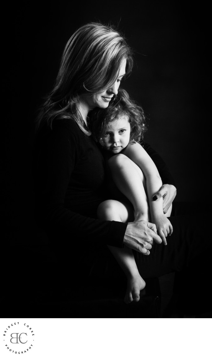 Mom and Toddler Tender Portrait Moment