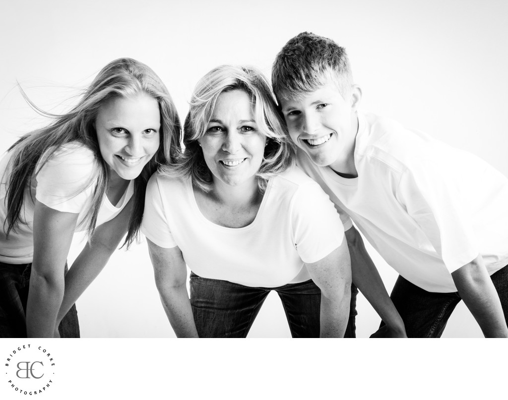 Teenagers on White Background in Johannesburg Studio