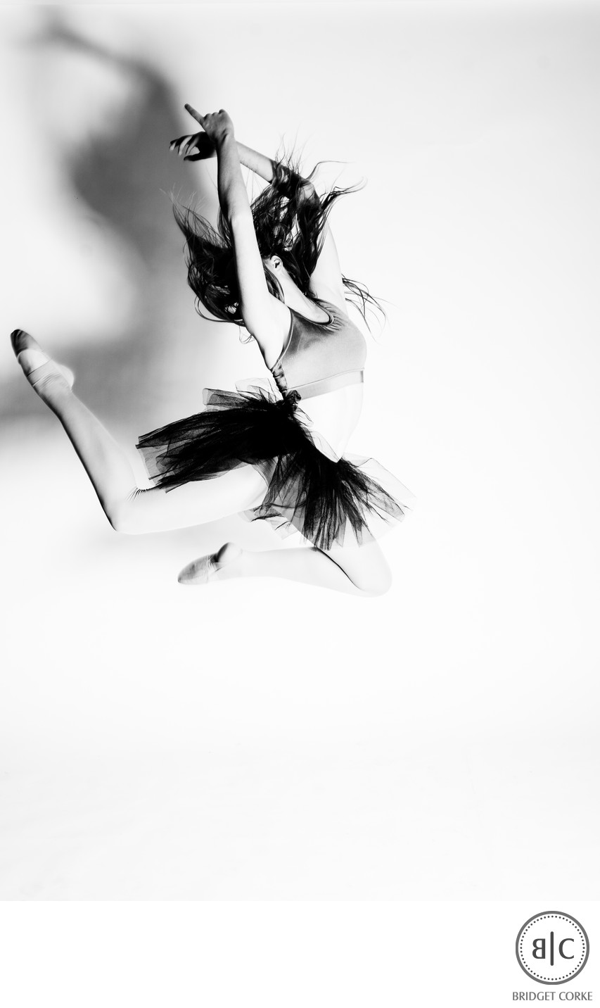 Dancer Captured Mid Air in Johannesburg Studio