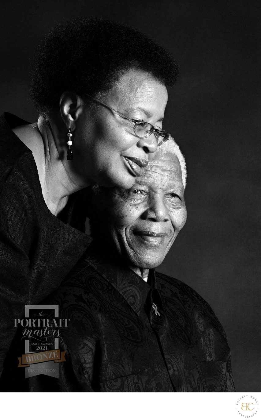 Johannesburg Portrait Nelson Mandela and Graca Machel