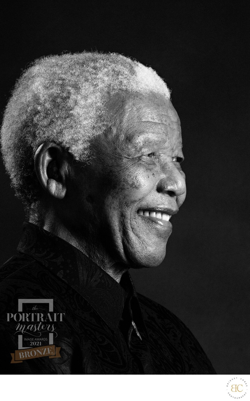 Black & White Portrait Photograph Nelson Mandela