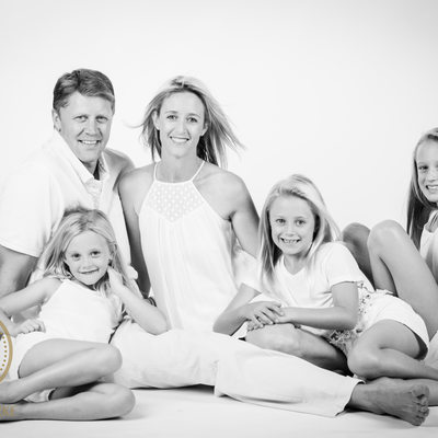 White Background Family Studio Shoot