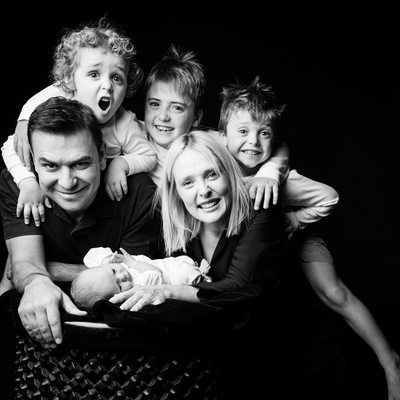 Large Family Shoot Photographed in Studio