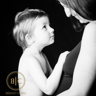 Mother and Son in Pregnancy Photograph
