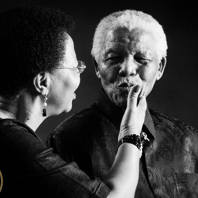 Nelson Mandela and Graca Machel Studio Shoot