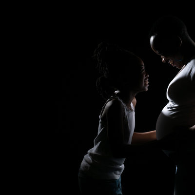 Mother and Child Maternity Photo Shoot in Johannesburg Studio