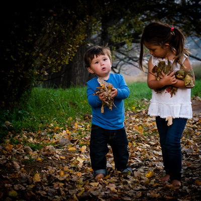 Children Captured Gathering Autumn Leaves by Johannesburg Child Photographer Bridget Corke