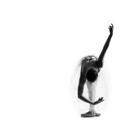 Timeless Teenage Dancer Taking a Bow During Johannesburg Studio Shoot on White Background