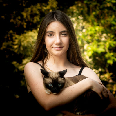 Teenager With Burmese Cat Captured in a Outdoor Photo Shoot in Johannesburg