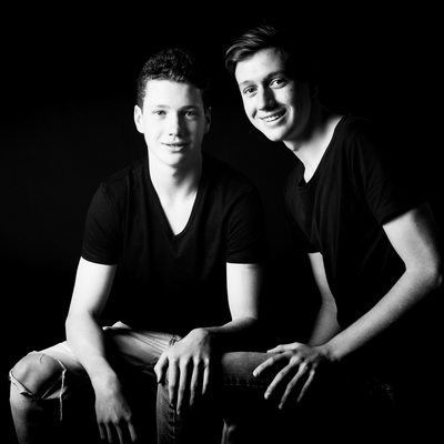 Teenager Brothers Portraits Photographed In Johannesburg Studio