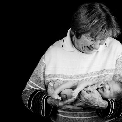 Newborn Shoot With Grandparent