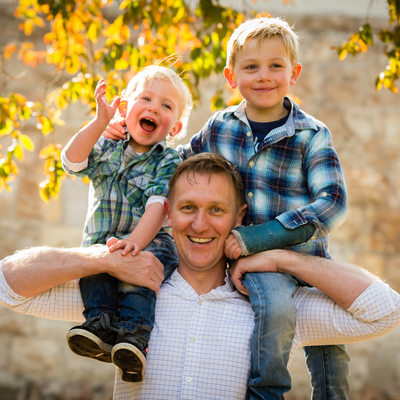 Father and Sons Photographed in Craighall Johannesburg