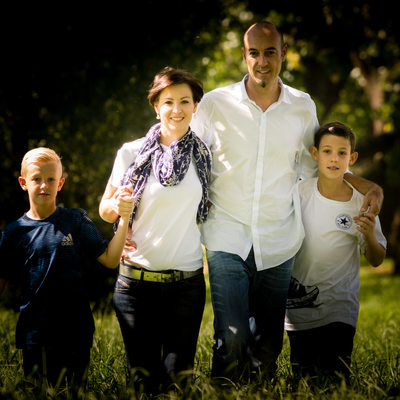 Outdoor Natural Light Park Shoot of Family by Bridget Corke Photography