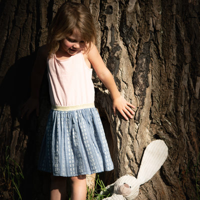 Young Child and Her Soft Toy Bunny Captured by Johannesburg Photographer Outdoors