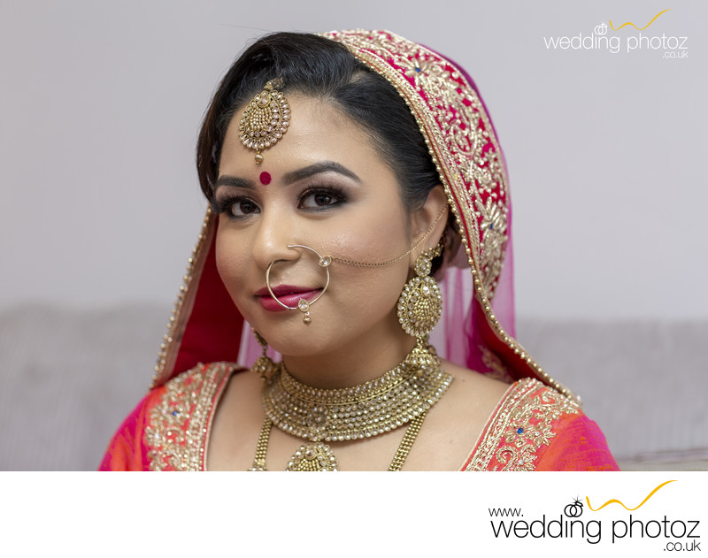 Punjabi Bride at her Sikh Wedding ceremony
