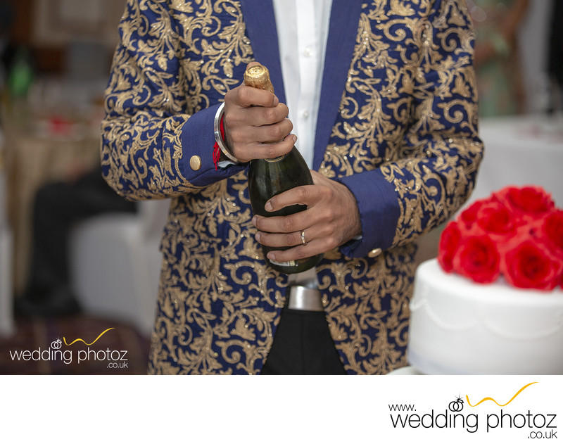 Wedding Reception Photography, Champagne opening