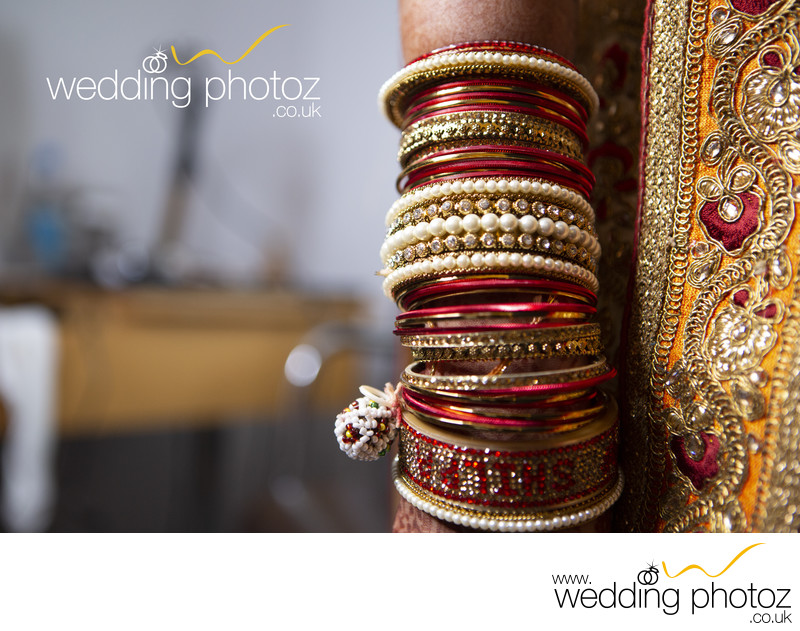 Bangles on an Indian Bride ready for her Wedding
