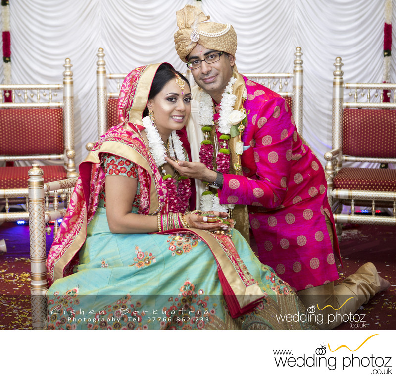Bride and Groom at Indian Wedding