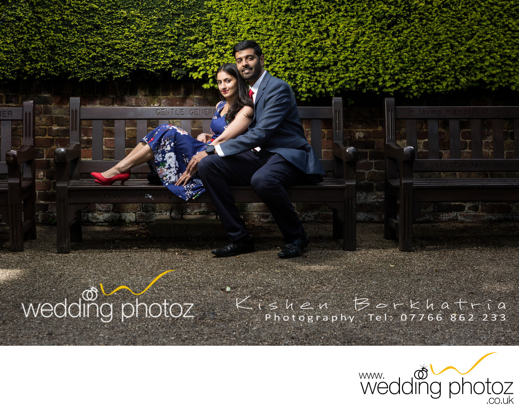 Holland Park Pre-Wedding engagement photo-shoot London