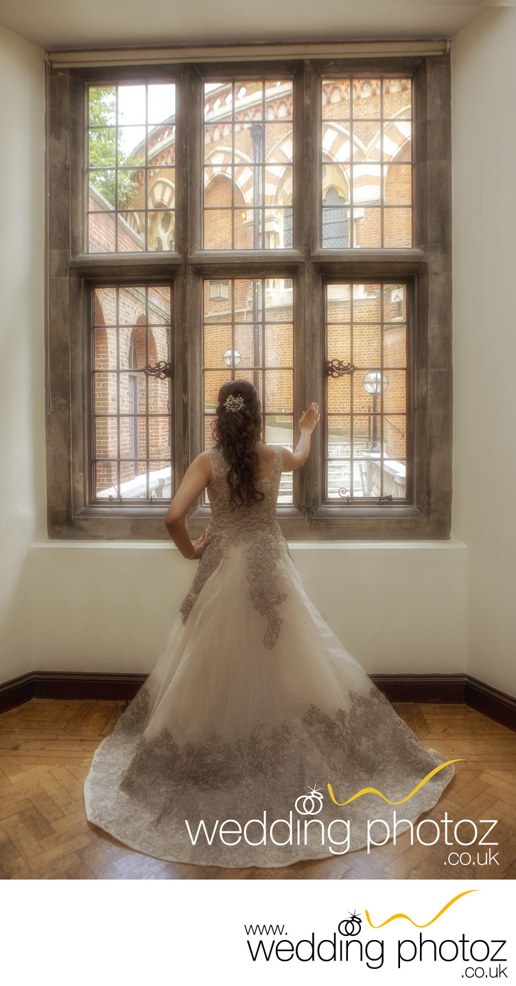 Bride looking out of Window, Harrow on the Hill
