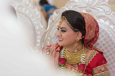 Indian bride at her Hindu wedding ceremony