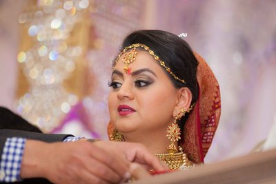 Indian Bride before seeing her groom