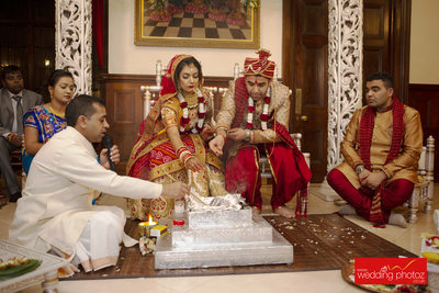 Hindu wedding at Hare Krishna Temple