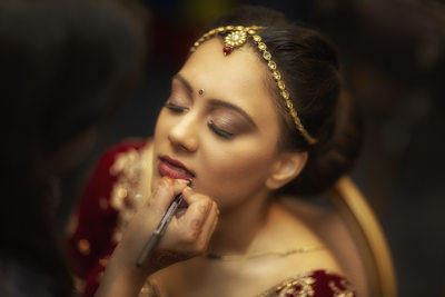 Indian Bridal Prep photography