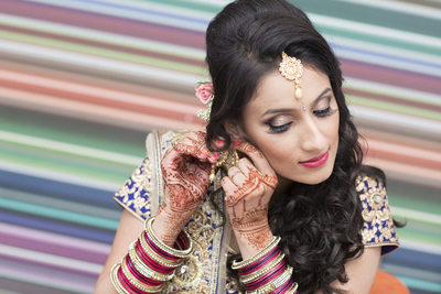 Asian Bridal prep photograph