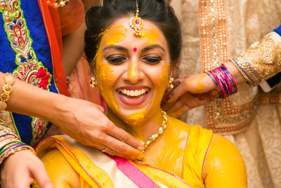 Bride's Pithi ceremony photograph