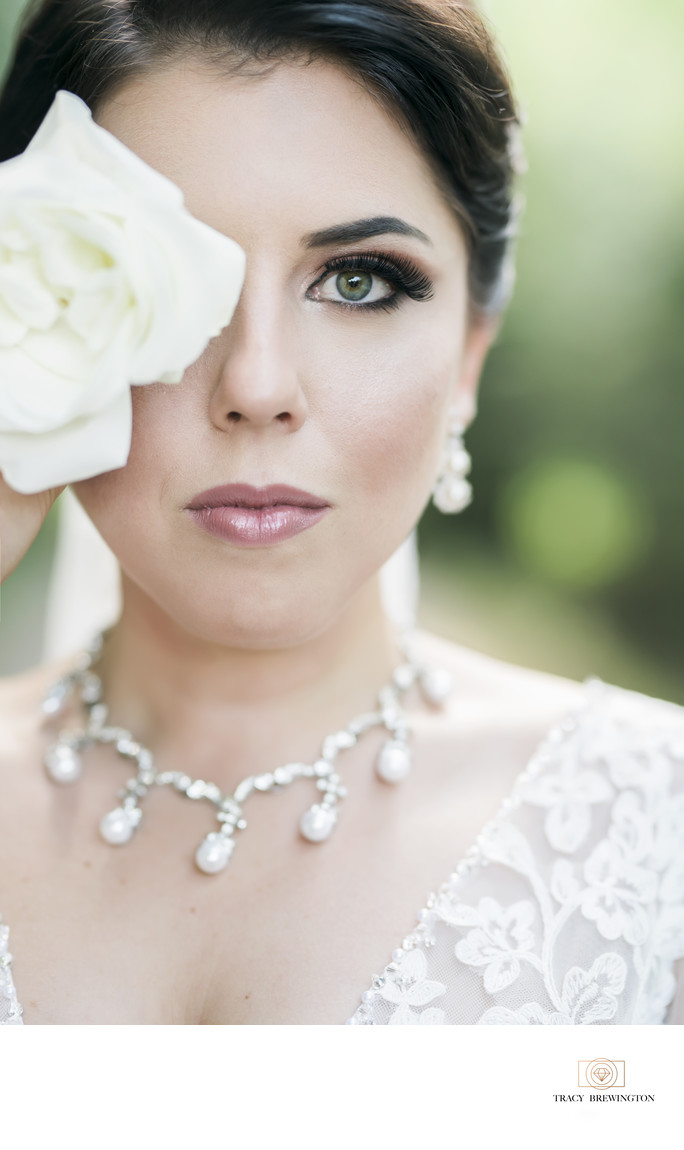 Fine Art bride at Hermitage Golf Course
