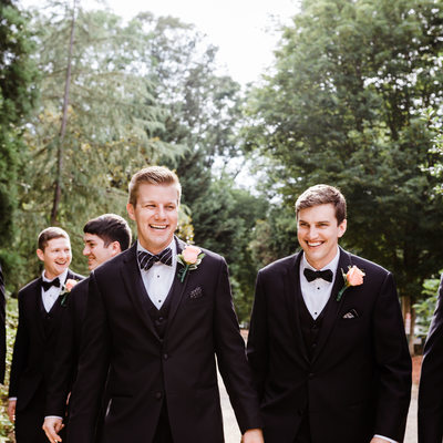 Groomsman at Cheekwood Gardens