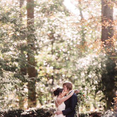 Nashville wedding photographer in the woods