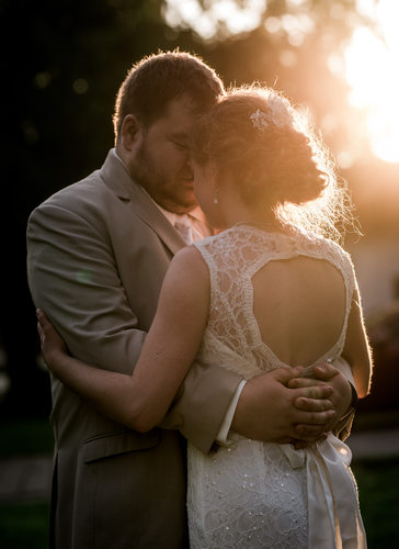 Sunset wedding at Carriage Lane Inn