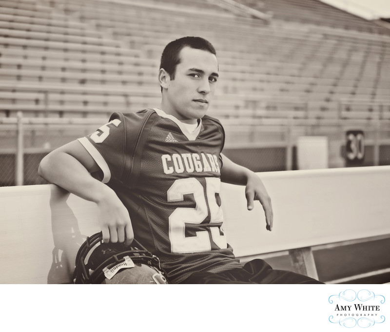 Cedar Rapids Senior Football photographer