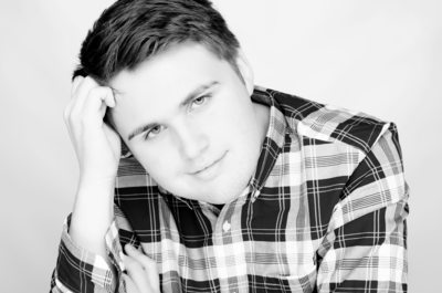 Senior Photography in black and white in Cedar Rapids