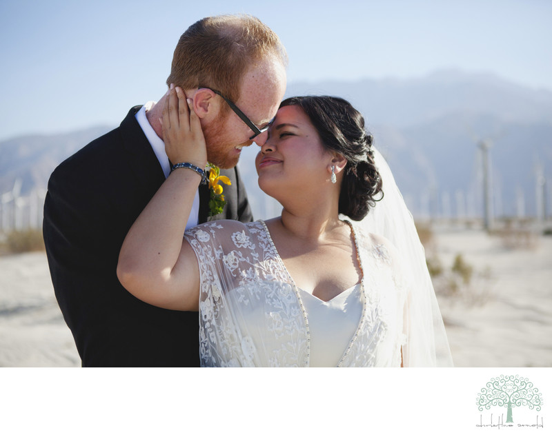 Windmills Palm Springs portraits wedding photographer